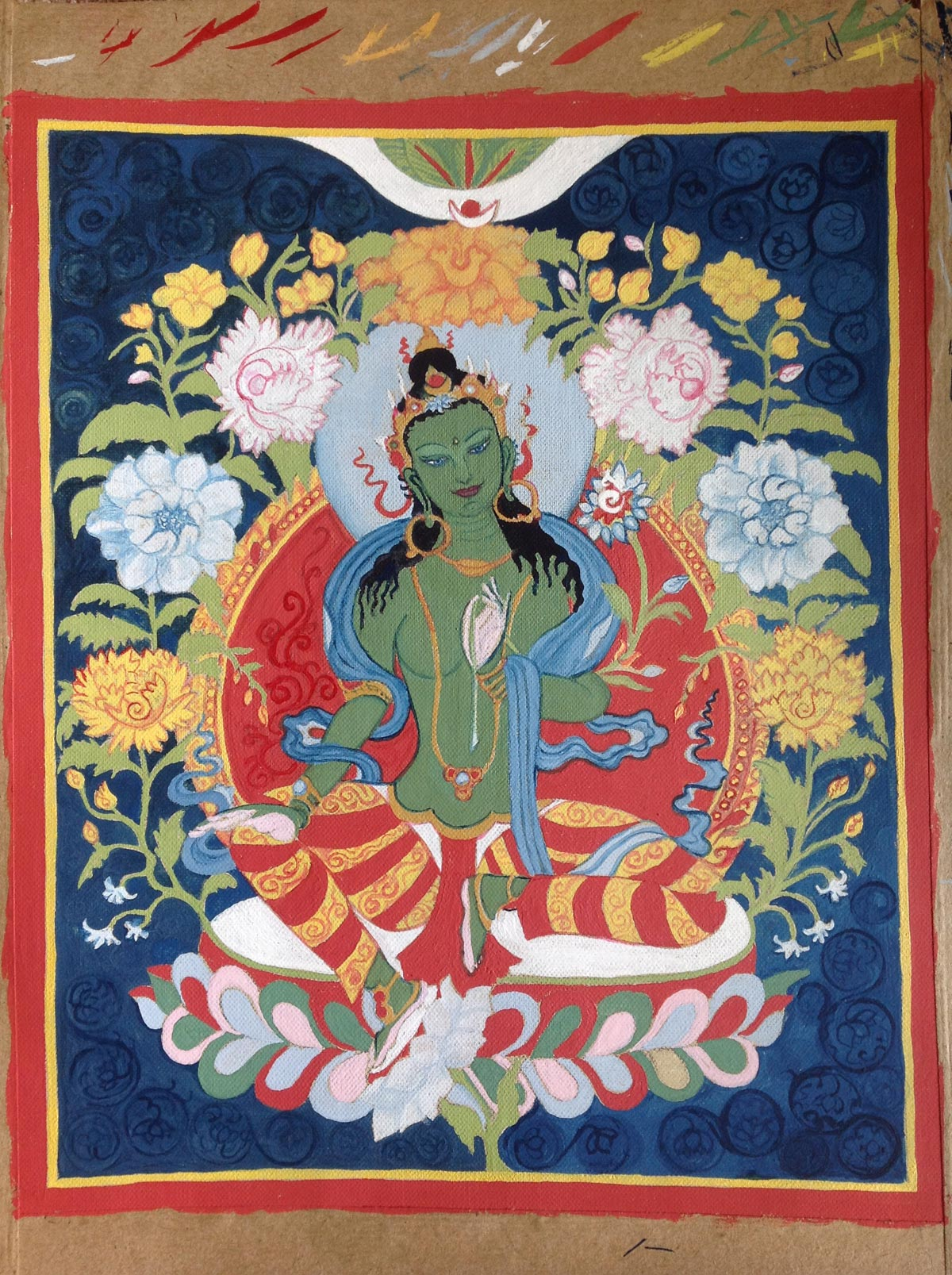 Green Tara - a work in progress...